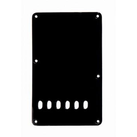 Tremolo afdekplaat linkshandig 1-laags zwart